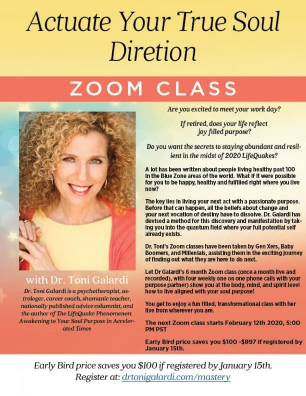 Special Offer - Actuate Your True Soul Direction Mastery Class